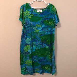 Collections Etc Tropical Floral Dress